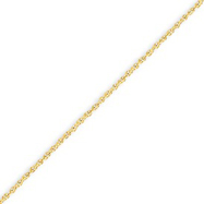 14K Yellow Gold 1.3mm Heavy-Baby Rope Chain