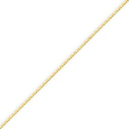 14K Yellow Gold 0.95mm Diamond Cut Cable Chain