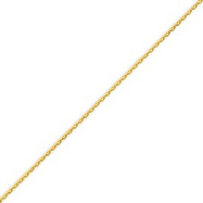 14K Yellow Gold 1.4mm Diamond-cut Spiga Bracelet