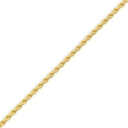 14K Yellow Gold 2.5mm Round Wheat Chain