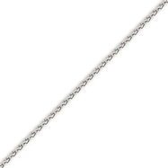 14K White Gold 2.25mm Round Wheat Chain