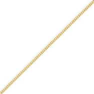 14K Yellow Gold 1.5mm Curb Pendant Chain