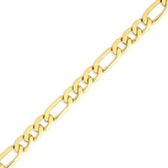 14K Gold 8.75mm Concave Open Figaro Link Chain