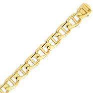 14K Gold 15mm Hand-polished Anchor Link Bracelet