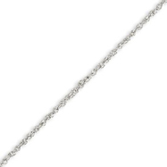 14K White Gold 1.7mm Rope Chain