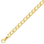 14K Gold 8.65mm Polished Fancy Link Bracelet