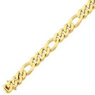 14K Gold 11.8mm Polished Fancy Link Bracelet