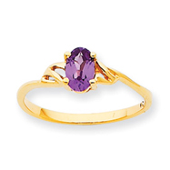 14K Gold June Rhodolite Garnet Birthstone Ring
