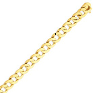 14K Gold Polished Fancy Curb Link Bracelet
