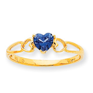 14K Gold December Blue Topaz Birthstone Ring