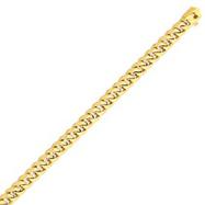 14K Gold 7mm Hand Polished Traditional Link Bracelet