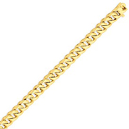 14K Gold 9mm Hand Polished Traditional Link Bracelet