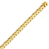 14K Gold 9mm Hand Polished Fancy Link Bracelet
