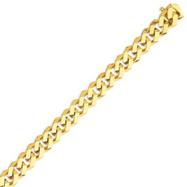 14K Gold 10mm Hand Polished Fancy Link Bracelet
