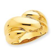 14K Gold Polished Domed Ring