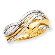 14K Two-Tone Gold Wave Ring