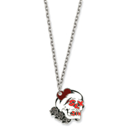Ed Hardy Sex & Sin Skull Painted 24in Necklace