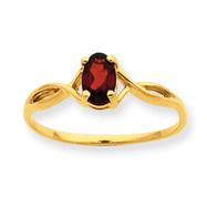 14K Gold Garnet January Birthstone Ring