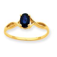 14K Gold Sapphire September Ring