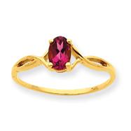 14K Gold Pink Tourmaline October Ring