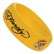 Ed Hardy Yellow Slip-on Acrylic 8.25in Bangle