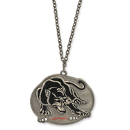 Ed Hardy Cubic Zirconia Panther Painted 24in Necklace