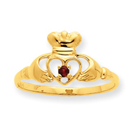 14K Gold Ruby July Birthstone Ring