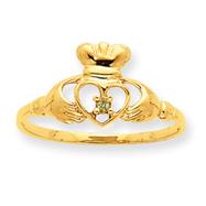 14K Gold Peridot August Birthstone Ring