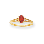 14K Gold January Birthstone Ring