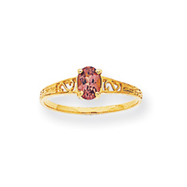 14K Gold June Birthstone Ring