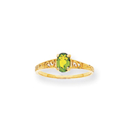 14K Gold August Birthstone Ring