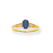 14K Gold September Birthstone Ring