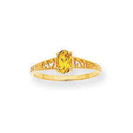 14K Gold November Birthstone Ring
