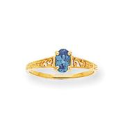 14K Gold December Birthstone Ring