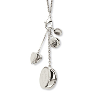 "Silver-tone Mulit Locket Charm 24"" Necklace"