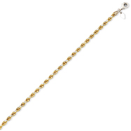 14K Yellow Gold & Sterling Silver 3.6mm Diamond Cut Rope Chain