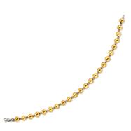 14K Yellow Gold & Sterling Silver Beaded Bracelet