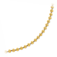 14K Yellow Gold & Sterling Silver Beaded Necklace