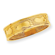 14K Gold Footprints In The Sand Ring