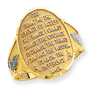 14K Gold & Rhodium Serenity Prayer Ring
