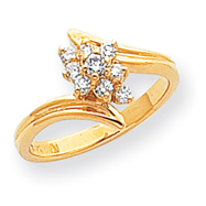 14K Gold AA Diamond Ring