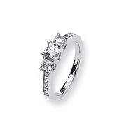 Karat Platinum .62ct tw Holds .40ct Round Center Semi-Mount Ring