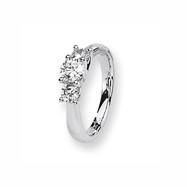 Karat Platinum .50ctw holds .50ct Round Center Semi-Mount Ring