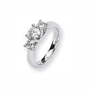 Karat Platinum .74ctw holds .75ct Round Center Semi-Mount Ring