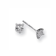Karat Platinum 1ctw Round Diamond Screwback Earrings