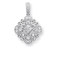 Karat Platinum .50ctw Diamond Fashion Pendant