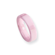 Ceramic Pink Faceted 5.5mm Polished Band