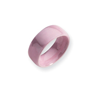 Ceramic Pink 8mm Polished Band