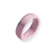 Ceramic Pink 6mm Polished Band