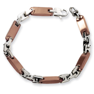 Stainless Steel Chocolate color IP-plated Bracelet